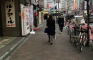 "3. Walk straight towards ""Omoide Yokocho"" intersection."
