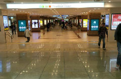 2. Walk straight into the shopping complex.